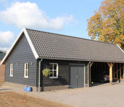 Project: 18052 Nieuwbouw schuur met overkapping te Hengevelde