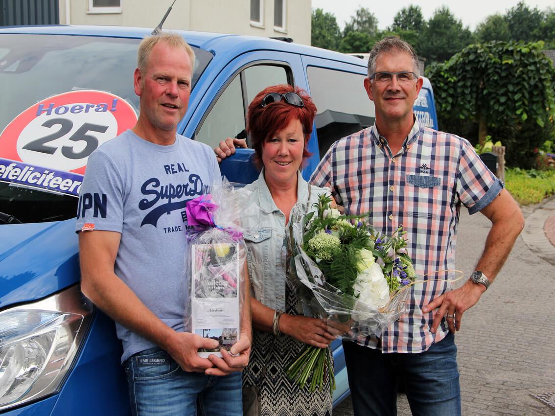 Wim Leferink 25 jaar in dienst wegdamnieuws